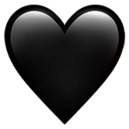 Black Heart Emoji U 1f5a4