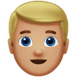 Blond Haired Man Medium Light Skin Tone Emoji U 1f471