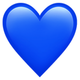 Blue Heart Emoji (U+1F499)