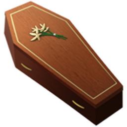 Coffin Emoji U 26b0 U Fe0f