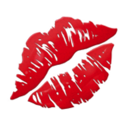 Big red lips emoji meaning