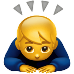 Gut gemocht Man Bowing Emoji (U+1F647) WW64