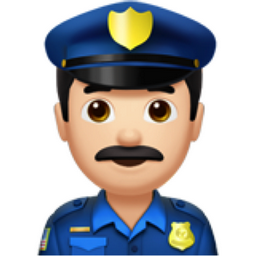 man police officer light skin tone emoji  u 1f46e  u 1f3fb policeman clipart black and white policeman clipart black and white