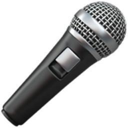 Microphone Emoji U 1f3a4