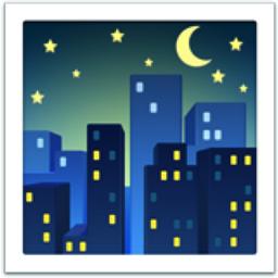 Night With Stars Emoji U 1f303