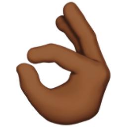 OK Hand: Medium-Dark Skin Tone Emoji (U+1F44C, U+1F3FE)  Okay