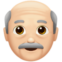 Old Man Light Skin Tone Emoji U 1f474 U 1f3fb