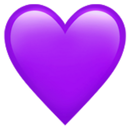 purple heart emoji u1f49c