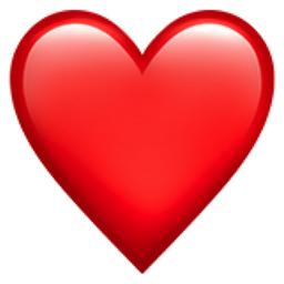 Red Heart Emoji (U+2764, U+FE0F)