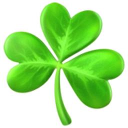 shamrock emoji  u 2618  u fe0f four leaf clover clip art svg four leaf clover clip art free