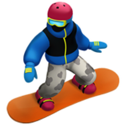 Snowboarder Emoji U 1f3c2