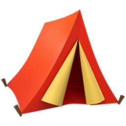 tent emoji  u 26fa  u fe0f emotion clipart black and white emotion clipart