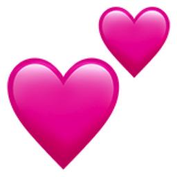 Two Hearts Emoji (U+1F495)