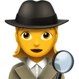 Woman Detective Emoji U 1f575 U Fe0f U 200d U 2640 U