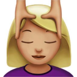 Woman Getting Massage Medium Light Skin Tone Emoji U
