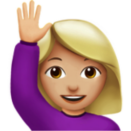Woman Raising Hand Medium Light Skin Tone Emoji U 1f64b