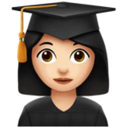 woman student light skin tone emoji  u 1f469  u 1f3fb  u Diploma Clip Art graduation cap and diploma clipart png