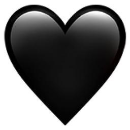 Black Heart Emoji (U+1F5A4)
