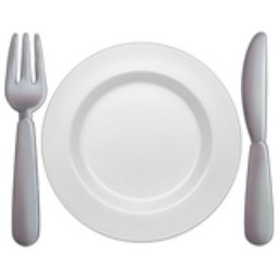 Fork And Knife With Plate Emoji U 1f37d