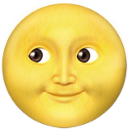 yellow moon emoji - photo #10