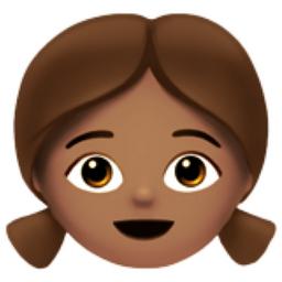 Girl Medium Skin Tone Emoji U 1f467 U 1f3fd