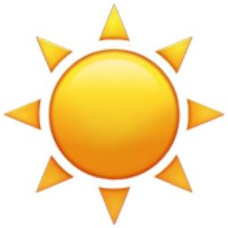 Sun Emoji (U+2600, U+FE0F) Symbols Copy And Paste Sun