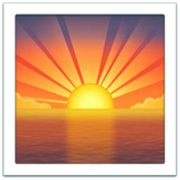 Sunrise Emoji (U+1F305) Symbols Copy And Paste Sun