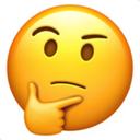thinking chin emoji