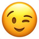 yellow winking face emoji